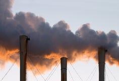 Nubes del humo Fotografía de archivo