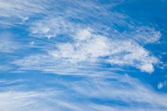 Nubes del invierno Fotografía de archivo