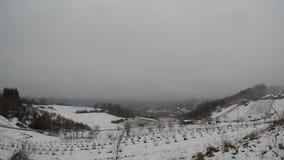 Nubes del lapso de tiempo, invierno almacen de video