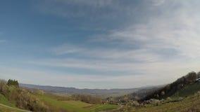 Nubes del lapso de tiempo, ma?ana, Croacia, granangular, mediterr?neo, Grecia, almacen de metraje de vídeo