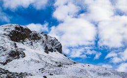 Nubes del n de Nieve y Nubes/de la nieve Foto de archivo libre de regalías