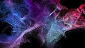 Nubes del polvo varicolored en la oscuridad, ejemplo 3d Imagen de archivo libre de regalías