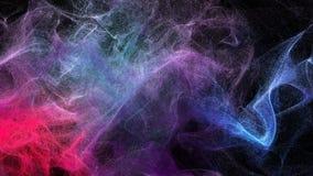 Nubes del polvo varicolored en la oscuridad, ejemplo 3d Imagenes de archivo