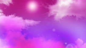 Nubes 02 del rosa almacen de video