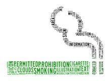 Nubes del texto de la zona de fumadores Fotos de archivo libres de regalías