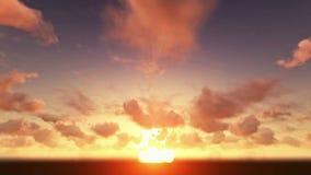 Nubes del timelapse de la salida del sol