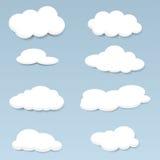 Nubes del vector fijadas Fotografía de archivo libre de regalías