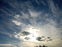 Nubes del verano imagen de archivo libre de regalías