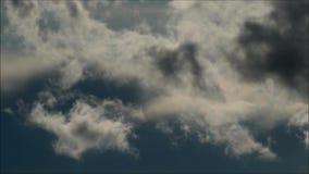 Nubes del verano de Berlín, Alemania almacen de video