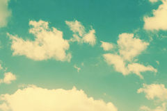 Nubes del vintage y fondo del cielo Fotografía de archivo