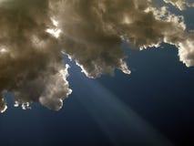 Nubes delante del sol Fotografía de archivo