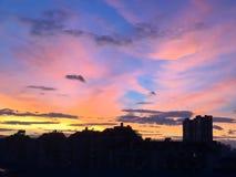Nubes dramáticas de arriba Imagen de archivo