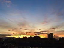 Nubes dramáticas de arriba Imagen de archivo libre de regalías
