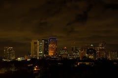 Nubes dramáticas sobre el horizonte de la noche de Fort Lauderdale Imagenes de archivo