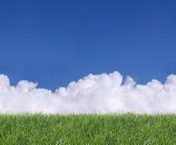 Nubes e hierba inconsútiles Foto de archivo