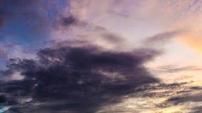 Nubes en cielo almacen de metraje de vídeo