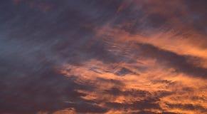 Nubes en el amanecer Imágenes de archivo libres de regalías