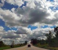 Nubes en el cielo imagen de archivo