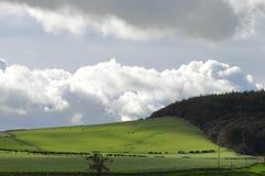 Nubes en el cielo azul fotos de archivo