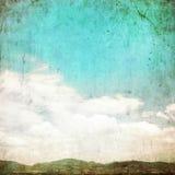 Nubes en el cielo azul del verano - vintage Imagen de archivo libre de regalías