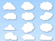 Nubes en el cielo azul nublado stock de ilustración