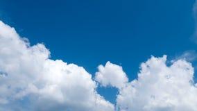 Nubes en el cielo, lapso de tiempo metrajes