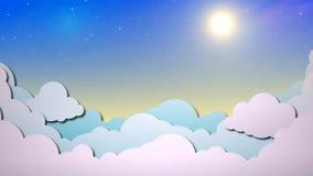 Nubes en el cielo soleado almacen de metraje de vídeo