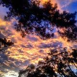 Nubes en el fuego Fotografía de archivo