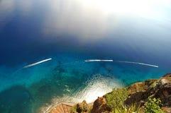 Nubes en el océano Imagen de archivo libre de regalías