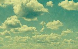 Nubes en estilo del vintage Imagen de archivo