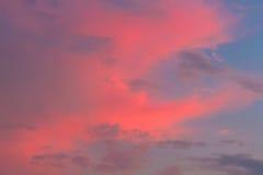 Nubes en fondo del cielo Imágenes de archivo libres de regalías