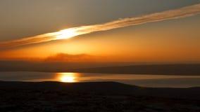 Nubes en la puesta del sol Imagen de archivo