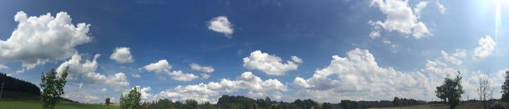 Nubes en la República Checa Imagen de archivo libre de regalías