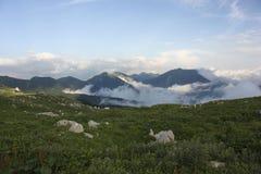 Nubes en la roca Imagen de archivo