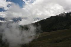 Nubes en los Andes Imagen de archivo libre de regalías