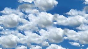 Nubes en un cielo claro en el movimiento almacen de metraje de vídeo
