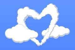 Nubes encantadoras de la dimensión de una variable del corazón Imágenes de archivo libres de regalías