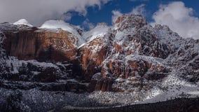 Nubes encima de Zion National Park, Utah Fotos de archivo libres de regalías