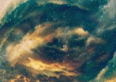 Nubes estrelladas de la nebulosa ilustración del vector