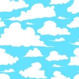 Nubes hechas a mano pintadas textura inconsútil Imagenes de archivo