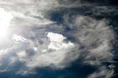 Nubes hermosas del verano Foto de archivo