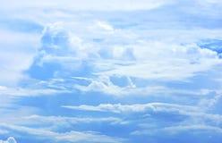 Nubes hermosas en el cielo Fotos de archivo libres de regalías