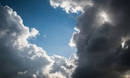 Nubes hermosas en L?bano 2019 fotos de archivo libres de regalías