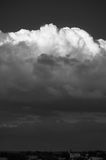 Nubes hermosas grandes fotografía de archivo libre de regalías