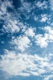 Nubes hinchadas blancas Imagen de archivo