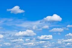 Nubes lanosas Imagen de archivo libre de regalías