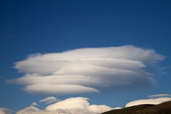 Nubes lenticulares Fotos de archivo