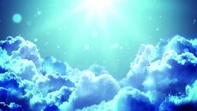 Nubes ligeras de la adoración stock de ilustración