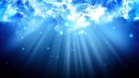 Nubes ligeras divinas stock de ilustración