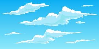 Nubes a mano stock de ilustración